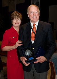 Lyn Cason and Ted Muendel - accepting on behalf of Novartis